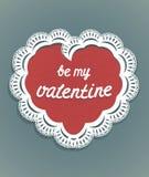 Carte de voeux de coeur et de dentelles carte douce de valentine d'amour Ce garçon aime des sports et des jeux de plein air Photographie stock libre de droits