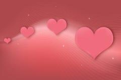 Carte de voeux de coeurs Images stock