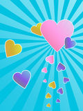 Carte de voeux de coeurs Image libre de droits