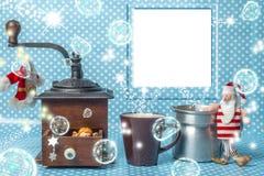 Carte de voeux de composition en cadre de photo de Noël Photos libres de droits