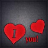 Carte de voeux de conception de l'avant-projet d'amour Photos libres de droits