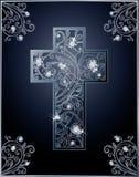 Carte de voeux de croix de Diamond Easter Photographie stock libre de droits