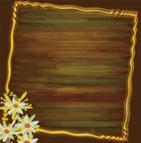 Carte de voeux de cru avec les fleurs 3d abstraites Photos stock