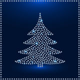 Carte de voeux de Diamond Christmas Tree Photographie stock libre de droits