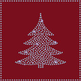 Carte de voeux de Diamond Christmas Tree Images stock