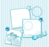 Carte de voeux de douche de chéri Images stock