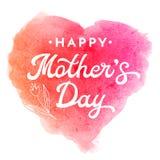 Carte de voeux de fête des mères avec la fleur et le lettrage Photos stock