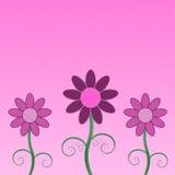 Carte de voeux de fleurs Image stock