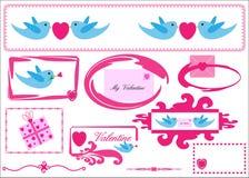 Carte de voeux de graphismes de Valentine/amour Photos stock
