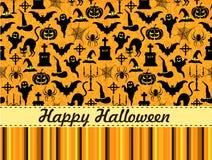 Carte de voeux de Halloween Image stock