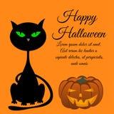Carte de voeux de Halloween Photo stock
