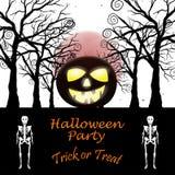 Carte de voeux de Halloween Photographie stock libre de droits
