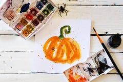 Carte de voeux de Halloween Images libres de droits