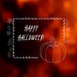 Carte de voeux de Halloween avec le fond brouillé Photographie stock