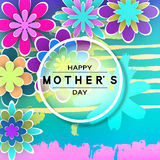 Carte de voeux de jour de Mother's Photos libres de droits