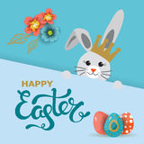 Carte de voeux de jour de Pâques, affiche, illustration de vecteur Photo libre de droits