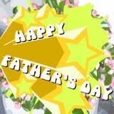 Carte de voeux de jour de pères Photo stock
