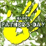 Carte de voeux de jour de pères Photo libre de droits