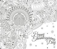 Carte de voeux de jour de thanksgiving Divers éléments pour la conception Photos libres de droits