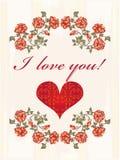 Carte de voeux de jour de Valentines illustration stock
