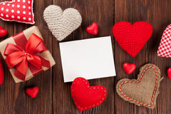 Carte de voeux de jour de Valentines Images stock