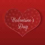 Carte de voeux de jour de valentines avec le modèle de coeurs Images stock