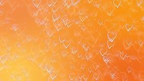 Carte de voeux de jour de valentines de saint Fond orange abstrait avec des coeurs d'ensemble illustration libre de droits