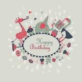 Carte de voeux de joyeux anniversaire Photographie stock