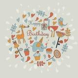 Carte de voeux de joyeux anniversaire Photos libres de droits