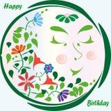 Carte de voeux de joyeux anniversaire Photo stock