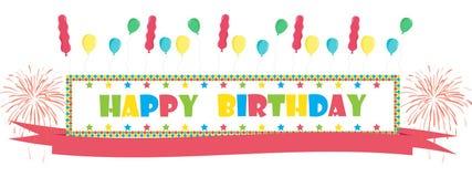 Carte de voeux de joyeux anniversaire Images libres de droits