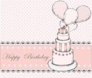 Carte de voeux de joyeux anniversaire illustration de vecteur