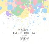 Carte de voeux de joyeux anniversaire illustration stock