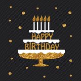 Carte de voeux de joyeux anniversaire, affiche, plaquette Photos stock