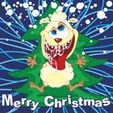 Carte de voeux de Joyeux Noël Images stock