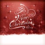 Carte de voeux de Joyeux Noël Photo stock