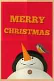 Carte de voeux de Joyeux Noël Photographie stock libre de droits
