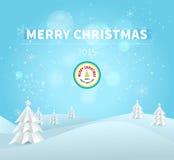 Carte de voeux 2015 de Joyeux Noël illustration stock