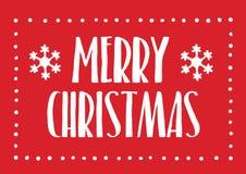 Carte de voeux de Joyeux Noël Image stock