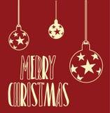 Carte de voeux de Joyeux Noël Image libre de droits
