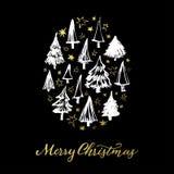 Carte de voeux de Joyeux Noël Photo libre de droits