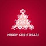 Carte de voeux de Joyeux Noël avec des mots et illustration de vecteur