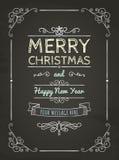 Carte de voeux de Joyeux Noël de griffonnage illustration libre de droits