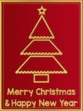 Carte de voeux de Joyeux Noël et d'an neuf heureux illustration libre de droits