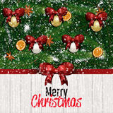 Carte de voeux de Joyeux Noël et d'an neuf heureux Photo stock
