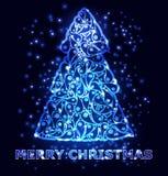 Carte de voeux de Joyeux Noël Vecteur Photos stock