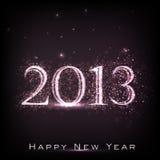 Carte de voeux de l'an 2013 neuf heureux. Photographie stock libre de droits