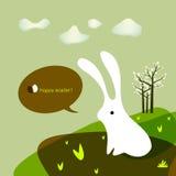 Carte de voeux de lapin de Pâques Photo libre de droits