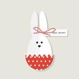 Carte de voeux de lapin de Pâques Images libres de droits