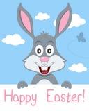 Carte de voeux de lapin de Pâques Photos stock